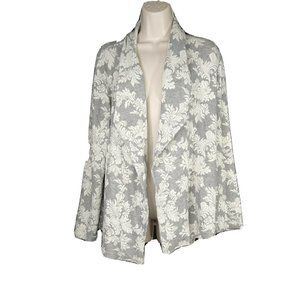 Chicos Open Front Cardigan Sweater Size 2 L 12